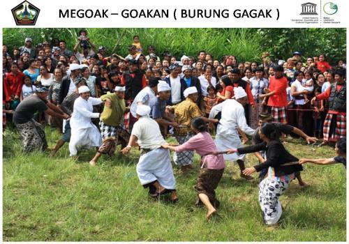 Tradisi Megoak - Goakan saat Nyepi Desa di Kintamani