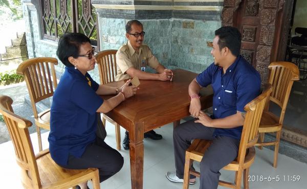 Anjangsana Plt. kadiskop, Nakertrans ke Lpk Brilliant College dusun Cekeng Susut Bangli 2018