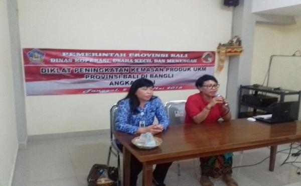 Diklat peningkatan kemasan produk UKM Provinsi Bali di Bangli