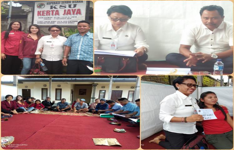 Plt. Kadis Koperasi UMKM Tenaga Kerja dan Trasmigrasi hadiri RAT  ( KSU Kerta Jaya ) Banjar Wana Prasta Desa Kintamani
