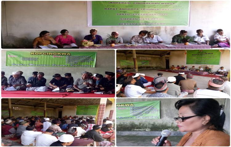 Rapat Anggota Tahun buku 2018 Koperasi Cingkreman Warga ( KOPCINGKWA )