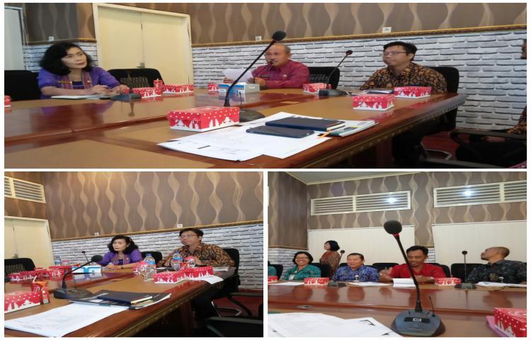 Rapat Desiminasi Kajian Fiskal Regional di ruang Rapat Arjuna Setda Bangli