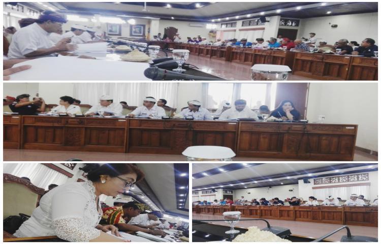 Rapat Pembahasan Raperda Ketenaga kerjaan di Kantor DPRD Provinsi Bali