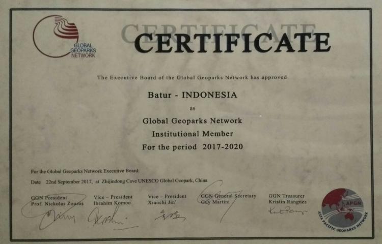 Batur Unesco Global Geopark berpartisipasi pada Simposium Ke-5 Asia Pasific Geopark Network (APGN) di Cina