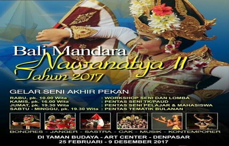 Jadwal Bali Mandara Nawanatya 2017