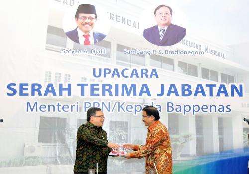Serah Terima Jabatan Menteri PPN/Kepala Bappenas