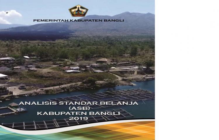 Analisis Standar Belanja (ASB) Kabupaten Bangli Tahun 2019
