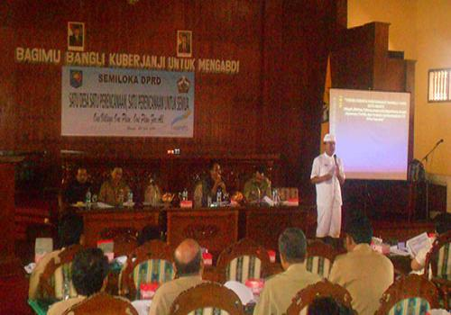 Semiloka DPRD Kabupaten Bangli PNPM-MPd tahun 2012