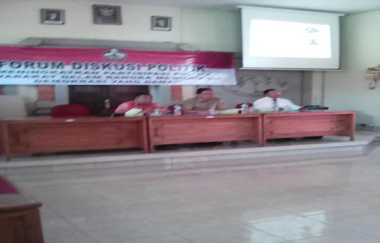 Koordinasi forum diskusi politik tahap I