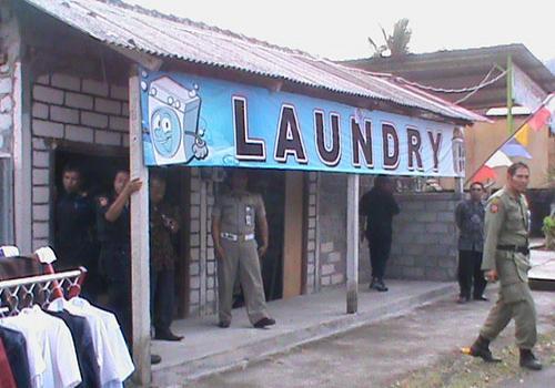 Tim Gabungan Sidak Usaha Laundry