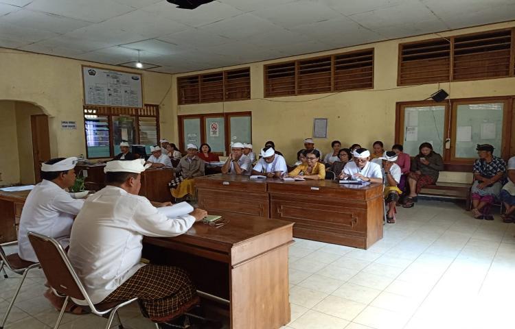 RAPAT MEMBAHAS PERSIAPAN ROADSHOW KPK DI KABUPATEN BANGLI