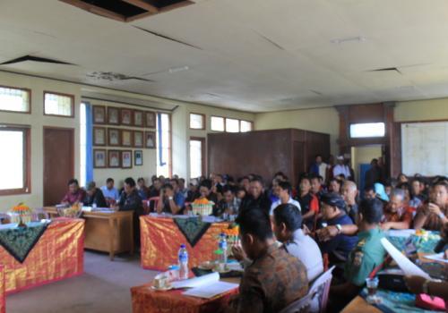 Pelaksanaan Muserencam Kecamatan Kintamani