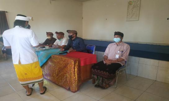 Penyerahan GGS di Desa Sukawana Kintamani