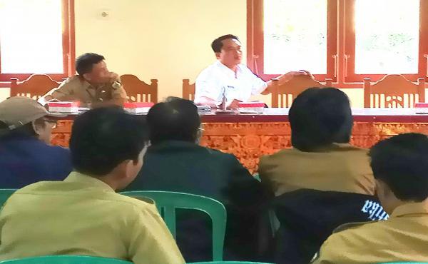 Pendampingan SID dari Yayasan Maha Boga Marga yang dihadiri dari Desa Se-Kec. Susut dengan mengajak