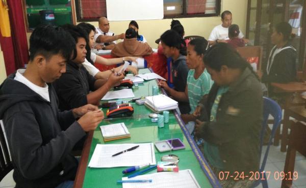 Pencairan bantuan PKH kepada 211 RTS di Kec. Susut.