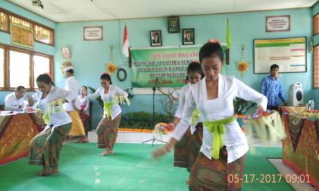 Suasana Penilaian Lomba Sekolah Sehat Kab. Bangli Tahun 2017 di SMP N 2 Susut.