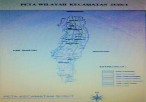 Peta Wilayah Kecamatan Susut