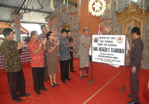 Peresmian SMK Kesehatan Negeri 1 Tembuku