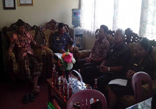 Penerimaan Mahasiswa Undiksha magang oleh Kepala Dinas Pendidikan Pemuda dan Olahraga Kabupaten Bangli