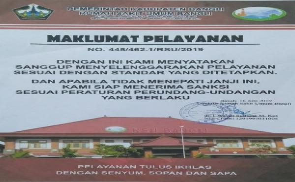 Maklumat Pelayanan Rumah Sakit Umum Bangli