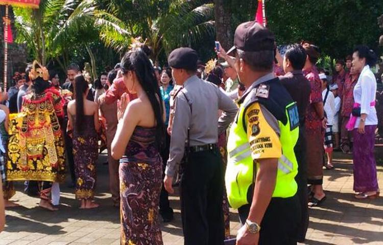 Pengamanan Lomba Kelurahan Kubu Yang Mewakili Kab. Bangli Ke Tingkat Provinsi Bali