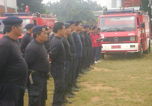 Kegiatan Latihan Pemadam Kebakaran