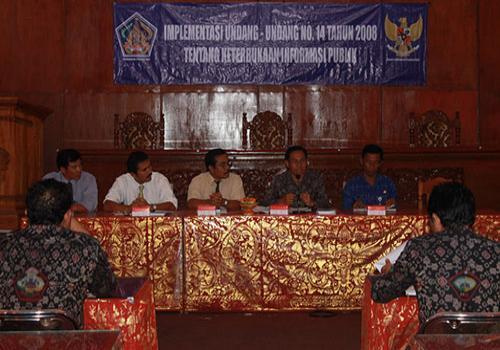 Sosialisasi PP 14 thn 2008 tentang Keterbukaan Informasi Publik dari Komisi Informasi, Bangli 2012