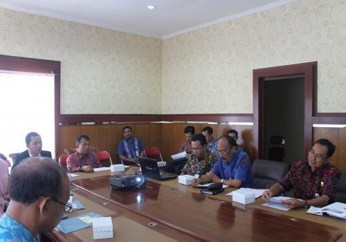 Audensi Dewan Teknologi Informasi Komunikasi Nasional  Dengan Pj. Bupati Bangli Serta SKPD Terkait