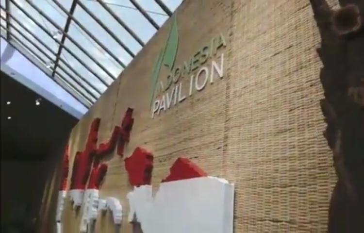 Indonesia Pavilion dirancang dan dibangun sebagai fasilitas untuk para peserta Annual Meetings 2018