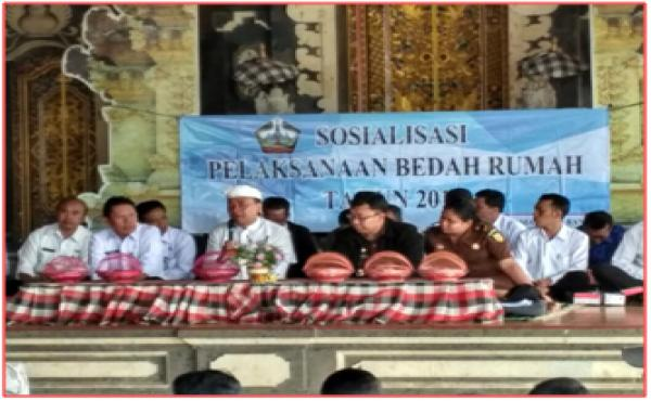 SOSIALISASI BEDAH RUMAH TAHUN 2017 DI DESA PENGOTAN