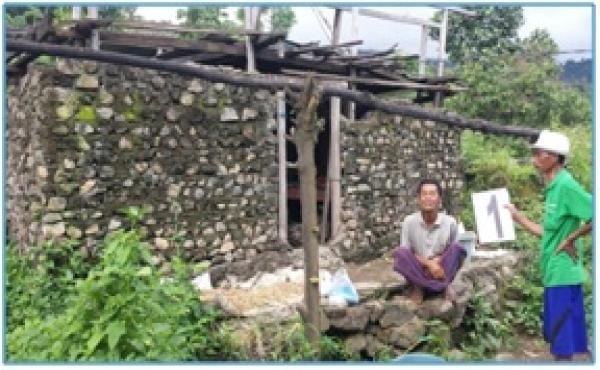 Verifikasi Bedah Rumah   Di Desa Songan A Dsn. Batumeyeh Tahun 2018