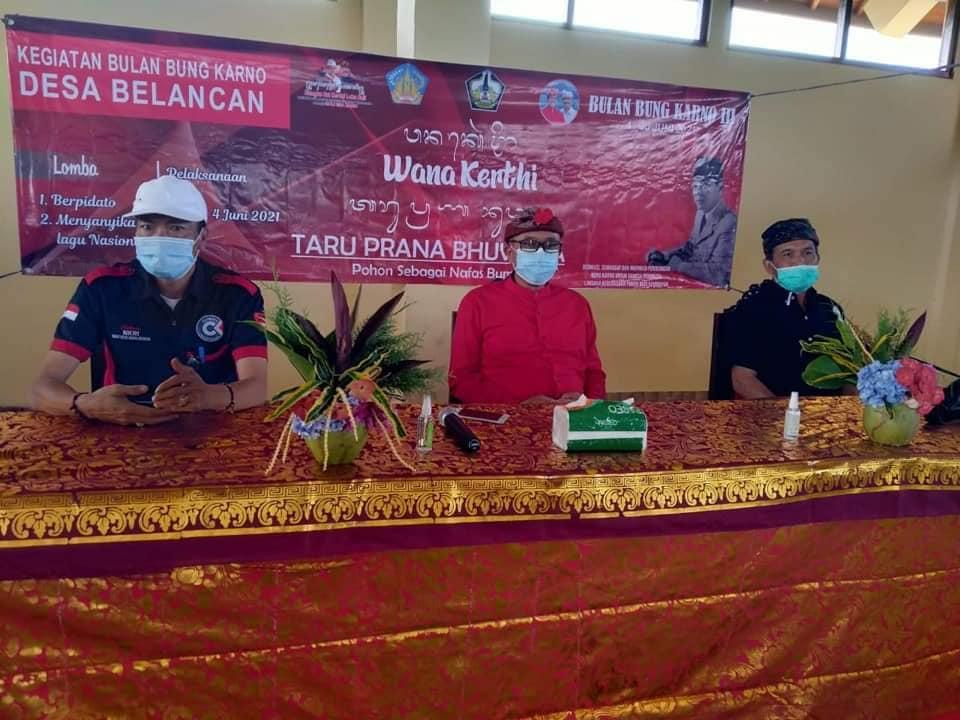 Wakil Bupati Bangli I Wayan Diar membuka Kegiatan Bulan Bung Karno di Desa Belancan, Kintamani.