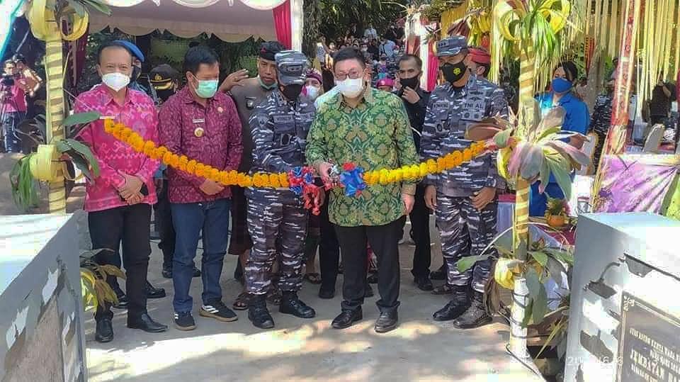 Bupati Bangli Sang Nyoman Sedana Arta, SE Menghadiri Peresmian Jembatan Yeh Tangga, Desa Subaya dengan Tejakula.