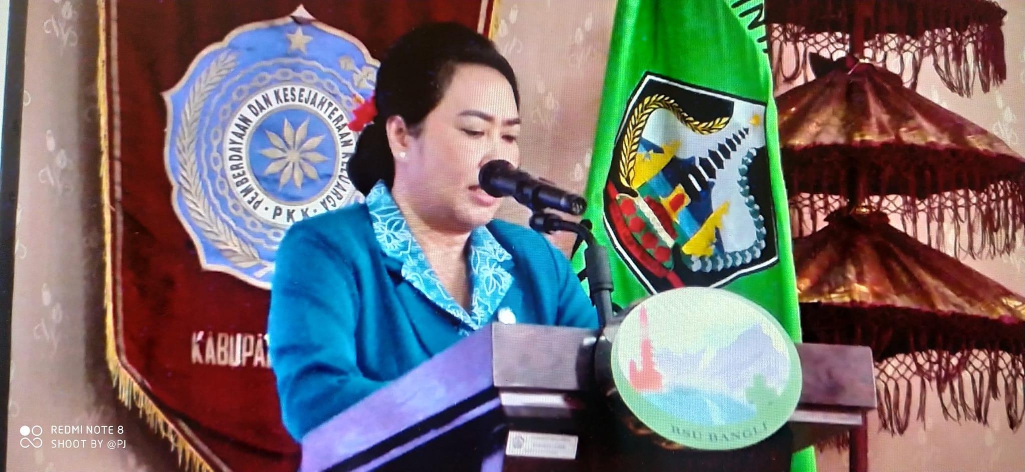 Pengarahan secara umum oleh Ketua TP PKK Kabupaten Bangli Ny. Sariasih Sedana Arta dalam rangka Rapat Konsultasi  TP PKK Kab. Bangli